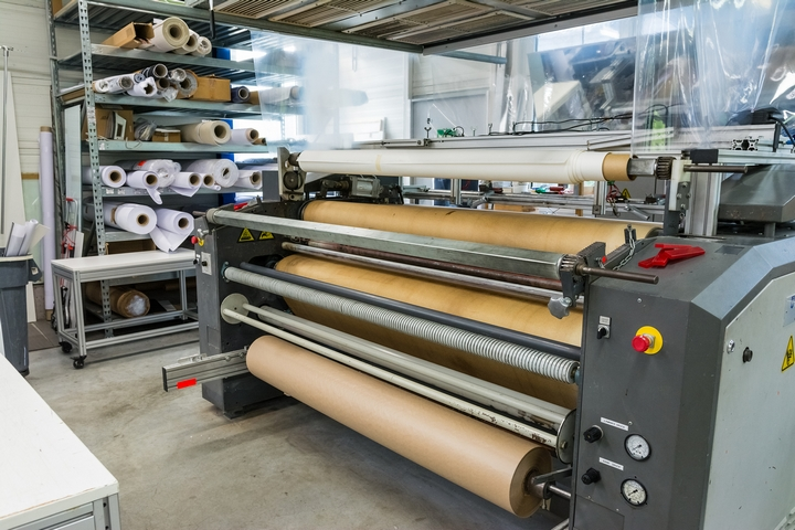 Screen Printing Material Rolls Shelf Machine Industrial Professi